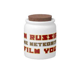 In Russia the Meteorite Film You Candy Jar
