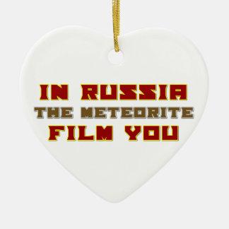 In Russia the Meteorite Film You Ceramic Ornament