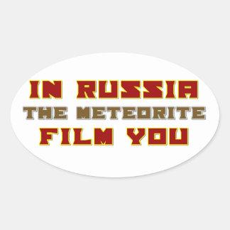 In Russia the Meteorite Film You Oval Sticker