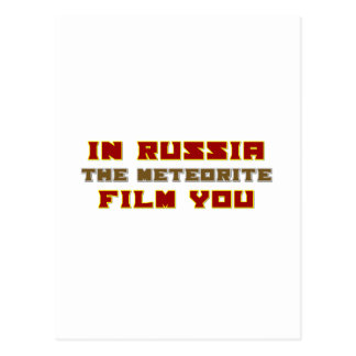In Russia the Meteorite Film You Postcard