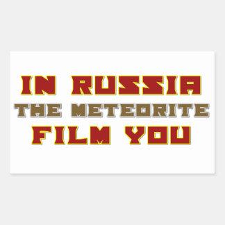 In Russia the Meteorite Film You Rectangular Sticker