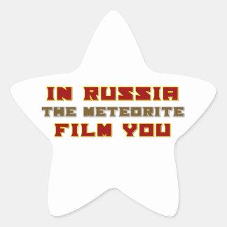 In Russia the Meteorite Film You Star Sticker
