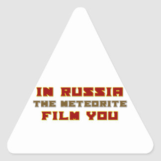 In Russia the Meteorite Film You Triangle Sticker