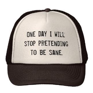 (in)sanity  - pretending to be sane hat