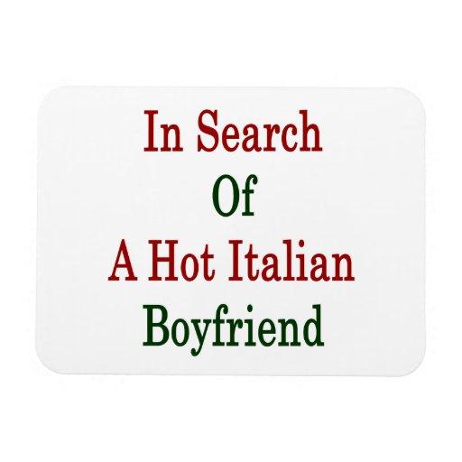 In Search Of A Hot Italian Boyfriend Vinyl Magnet
