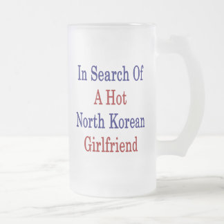 In Search Of A Hot North Korean Girlfriend 16 Oz Frosted Glass Beer Mug