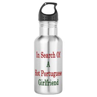 In Search Of A Hot Portuguese Girlfriend 18oz Water Bottle