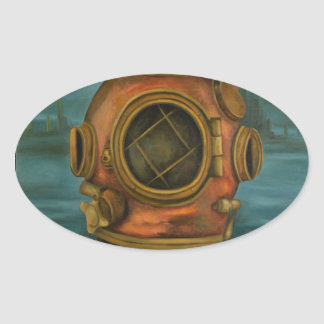 In Search Of Atlantis Oval Sticker