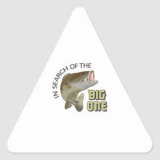IN SEARCH OF BIG ONE TRIANGLE STICKER