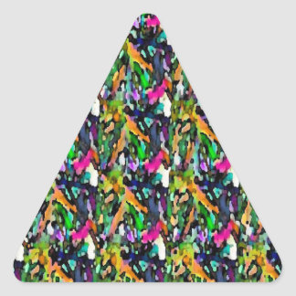 In search of Happiness - Harmony with Nature Triangle Sticker