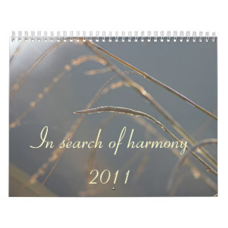In search of harmony calentdar calendar