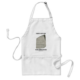 In Search Of Rosetta Stone Address Communication Adult Apron
