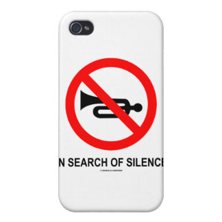 In Search Of Silence (Cross-Out Trumpet Sign) iPhone 4 Case