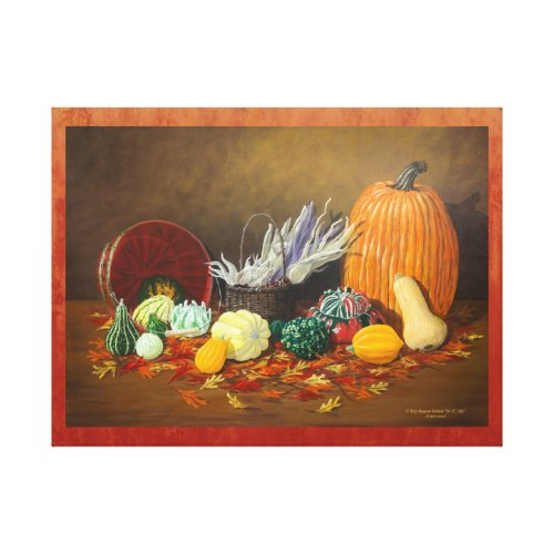 """In Season"" Fine Art Still Life Celebrating Fall Canvas Print - Thanksgiving wall decorations"