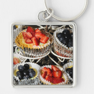 In Season Fruit Tarts Keychain