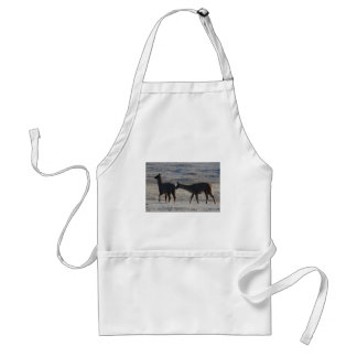 In second place the scenery never changes adult apron