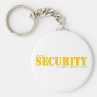 In security with Yellow Christ 2 Gray Keychain