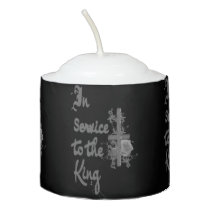 In Service to the King Votive Candle