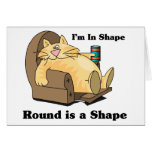 In shape cat greeting card
