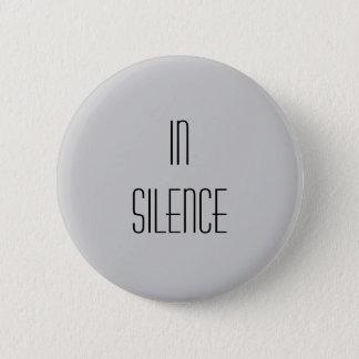 In Silence--Grey Modern Button