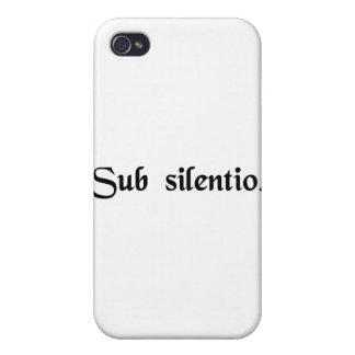 In silence. iPhone 4 cases