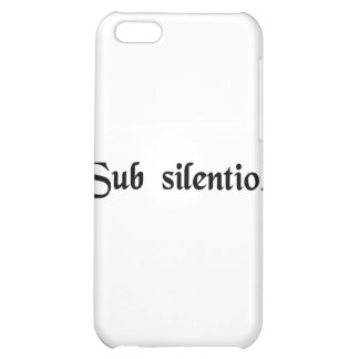 In silence. iPhone 5C cases