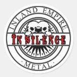 In Silence Skull Sticker