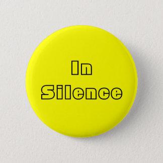 In Silence--yellow/black Pinback Button