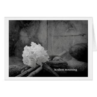 in silent mourning tarjeta de felicitación