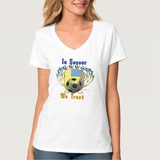 In Soccer We Trust Ladies V-Neck Nano T-Shirt