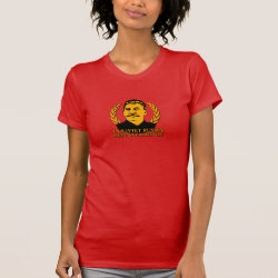Women's American Apparel Fine Jersey Short Sleeve T-Shirt with Mustache Rides You! design