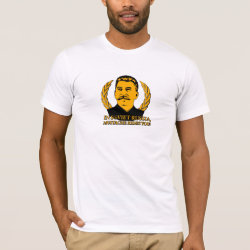 Men's Basic American Apparel T-Shirt with Mustache Rides You! design