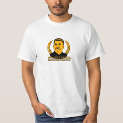 Men's Crew Value T-Shirt with Mustache Rides You! design