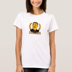 Women's Basic T-Shirt with Mustache Rides You! design