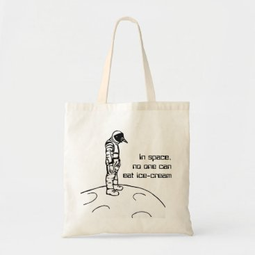 Beach Themed In Space, No One Can Eat Ice-Cream Tote Bag