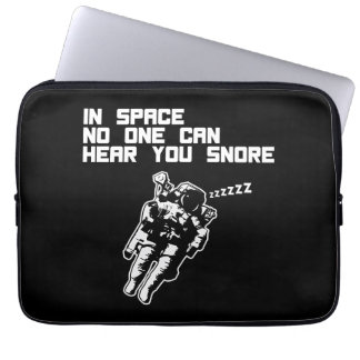 In Space No One Can Hear You Snore (dark) Laptop Computer Sleeves
