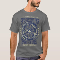 In Speed We Trust Vintage Style Muscle Car T-Shirt