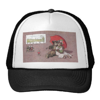 In Spring Teddy Bears Go Canoodling Trucker Hat