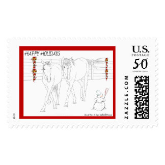 In Step Horses Postage Stamps