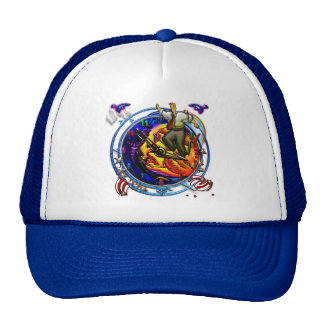 In step with time with bugs and birds trucker hat