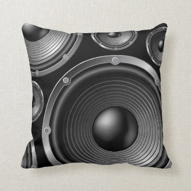In Stereo Throw Pillows