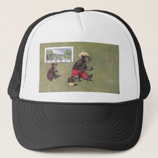 In Summer Teddy Bears Go Fishing Trucker Hat