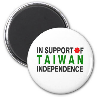In Support of Taiwan Independence 2 Inch Round Magnet