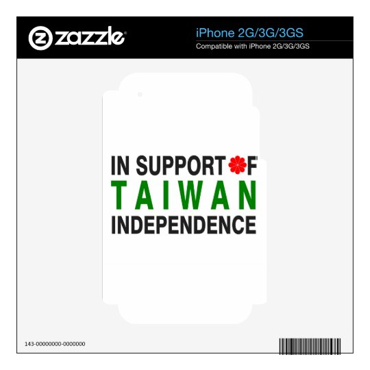 In Support of Taiwan Independence Skins For iPhone 2G