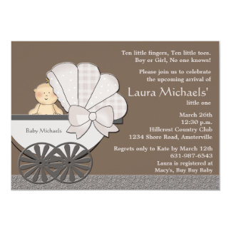 In Suspense - Baby Shower Invitation