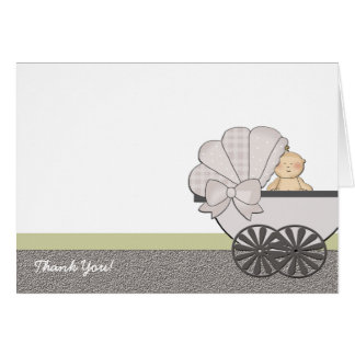 In Suspense Baby Shower Thank You Card