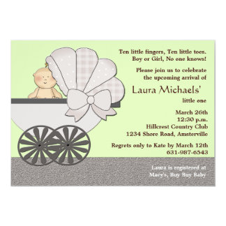 In Suspense Green - Baby Shower Invitation