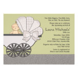 In Suspense (You Pick Background Color)Baby Shower Custom Invitation