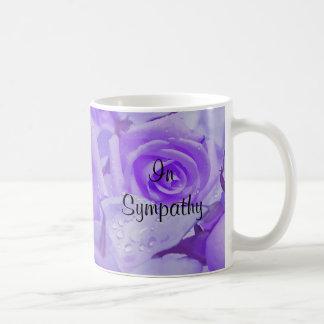 In Sympathy Lavender Roses Coffee Mug