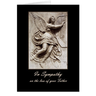 In Sympathy - Loss of Father - Angel with Harp Card